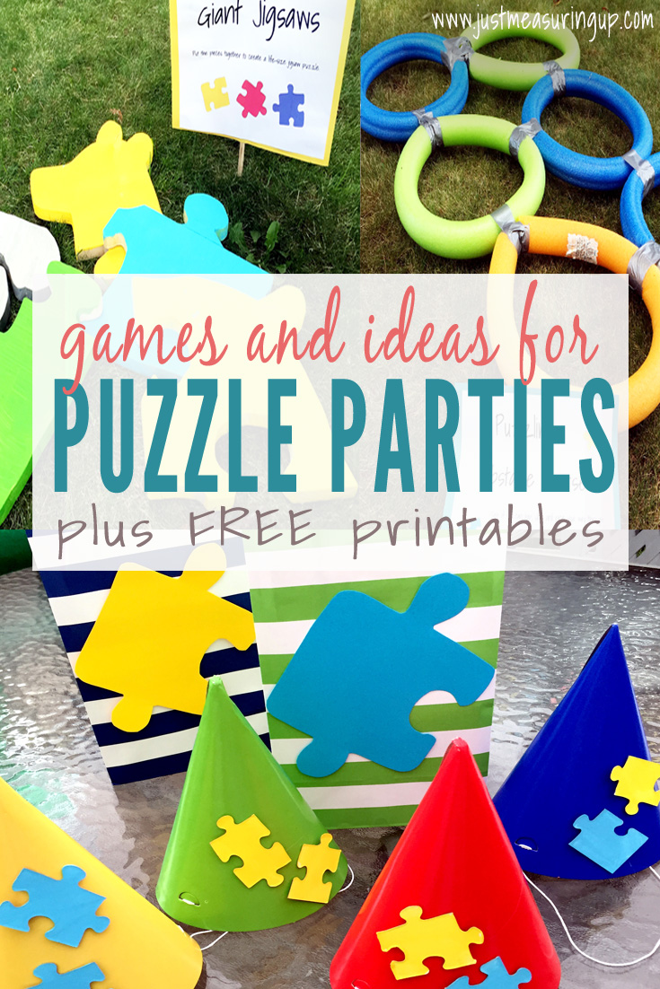 How to Throw an Amazing Puzzle Party - Games, Activities, Ideas, and FREE printables