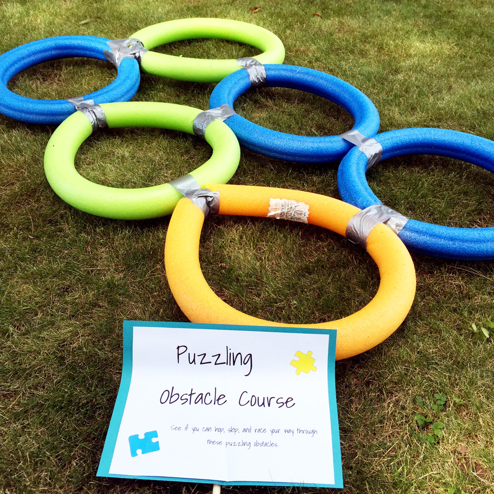 Making a Pool Noodle Obstacle Course - Easy Backyard Party Activity