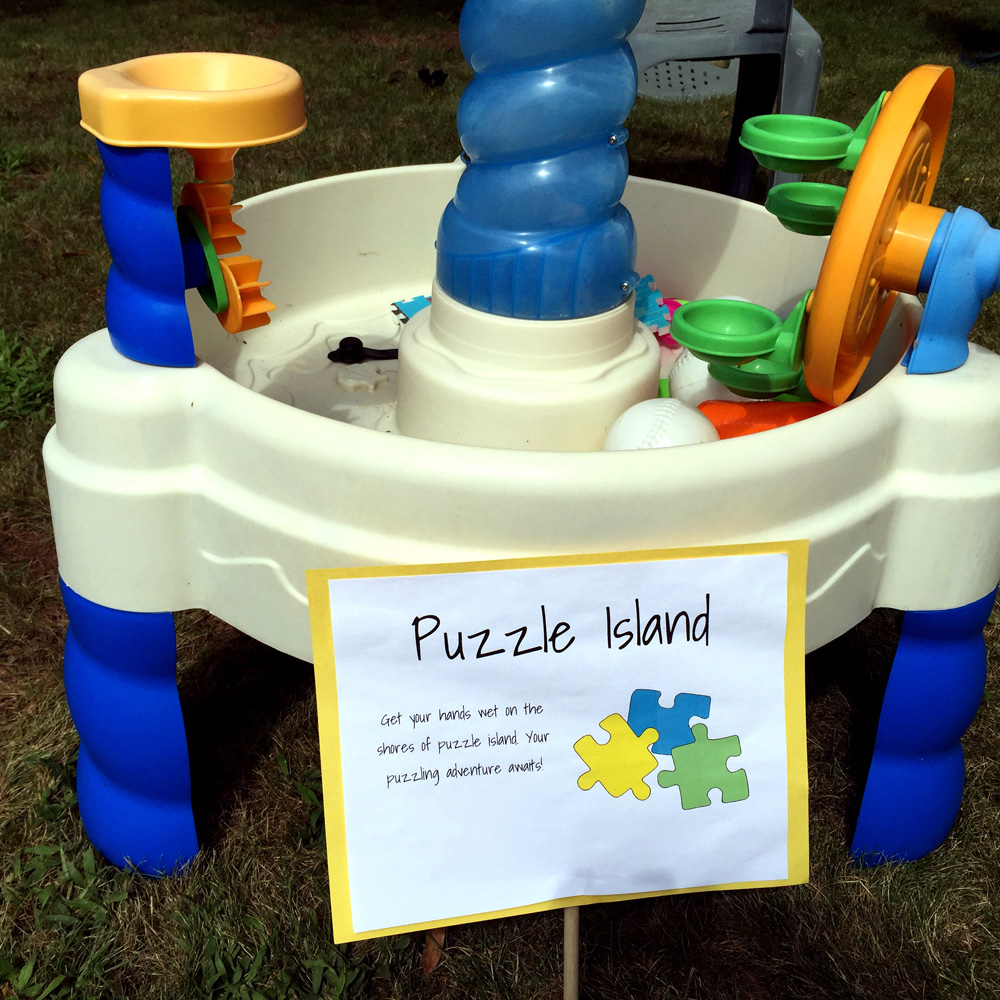 Using a Water Table for an Easy Party Activity
