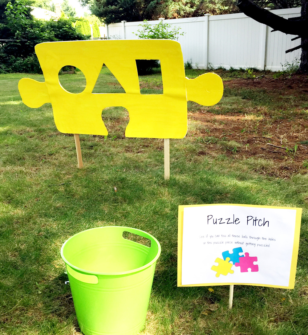 How to Make a $2 Ball Toss - Easy Party Ideas for Puzzle Parties