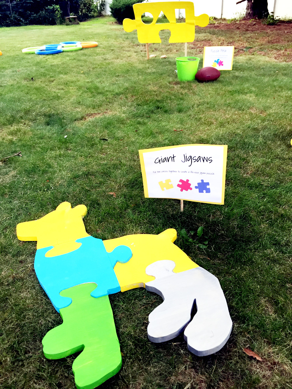 How to Make a Giant Wooden Puzzle - Fun Backyard Activity