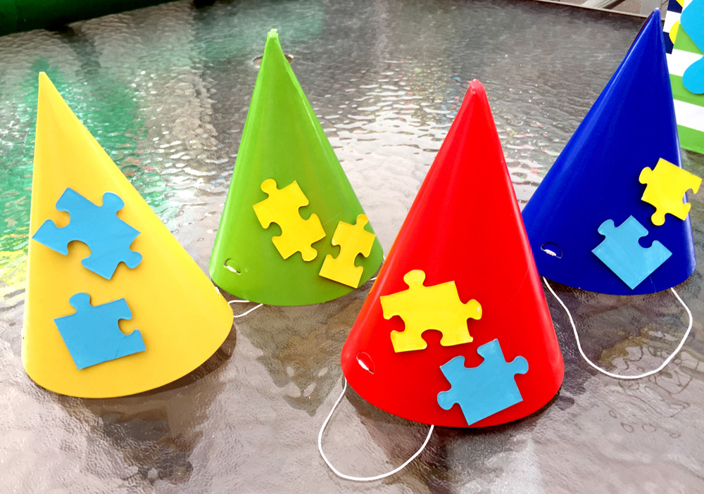 How to Make Thrifty Party Hats with Puzzle Pieces
