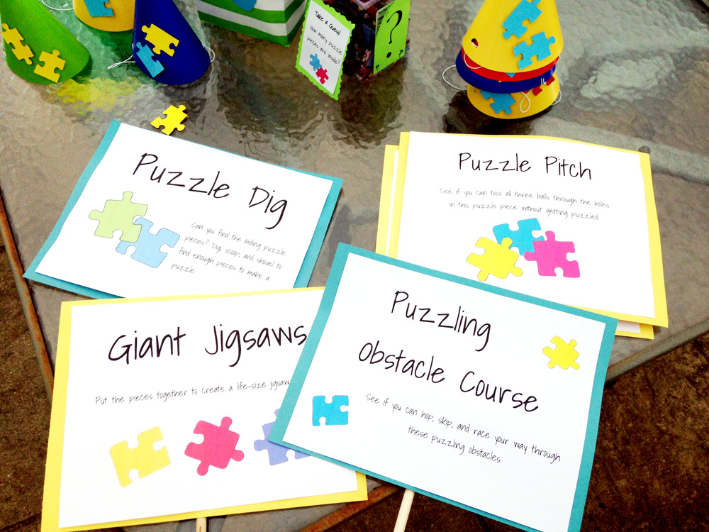 Puzzle Activities and Games for Puzzle Theme Parties - Free Printables