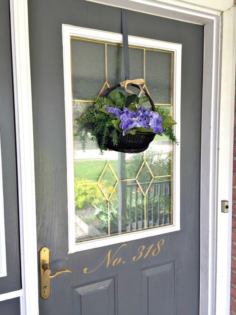 How to Make a Hanging Basket Wreath for the Door