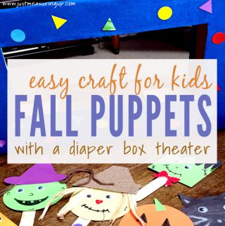 Easy Fall Craft for Kids - Popsicle Stick Puppets and a Cardboard Theater