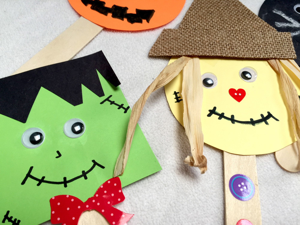 How to Make Popsicle Stick Puppets with a Diaper Box Puppet Theater