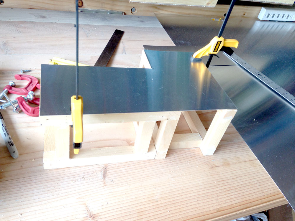 Attaching Sheet Metal to Wooden Frame for a Robot