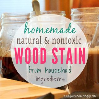 Make your own organic wood stain for less than $5