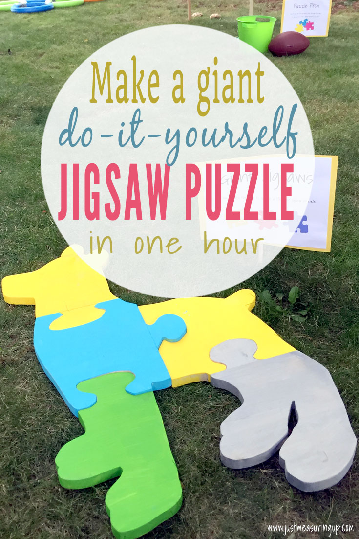 How to make an oversized wood jigsaw puzzle