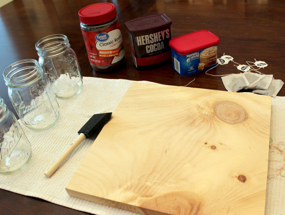 Making a homemade wood stain from ingredients in your pantry