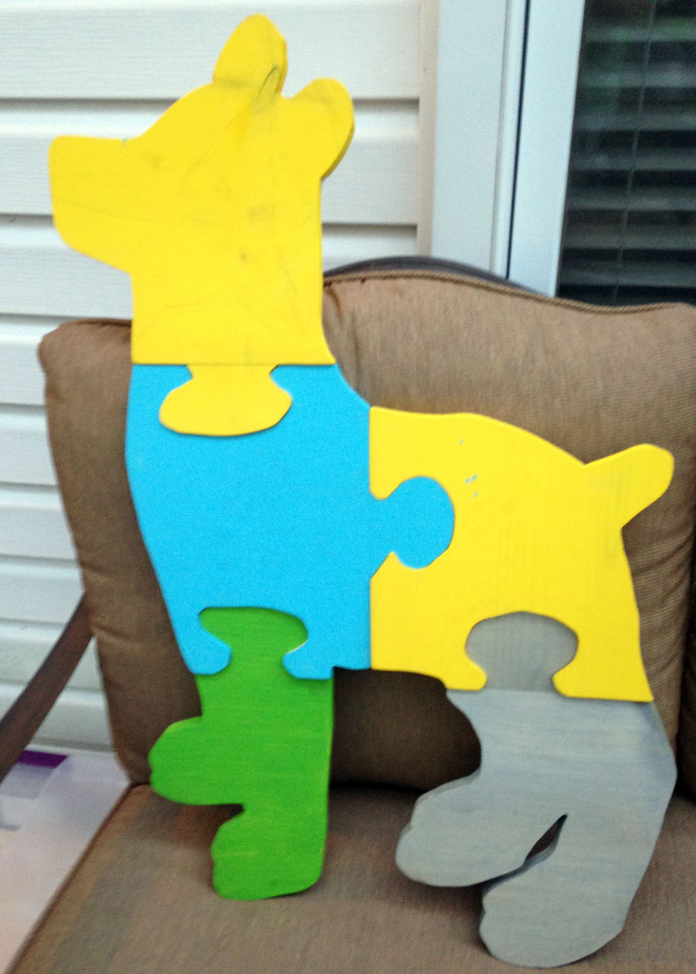Awesome yard game activity - giant DIY jigsaw puzzle