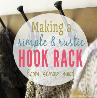 How to Make a Rustic Wooden Hook Rack for Entryway Organization
