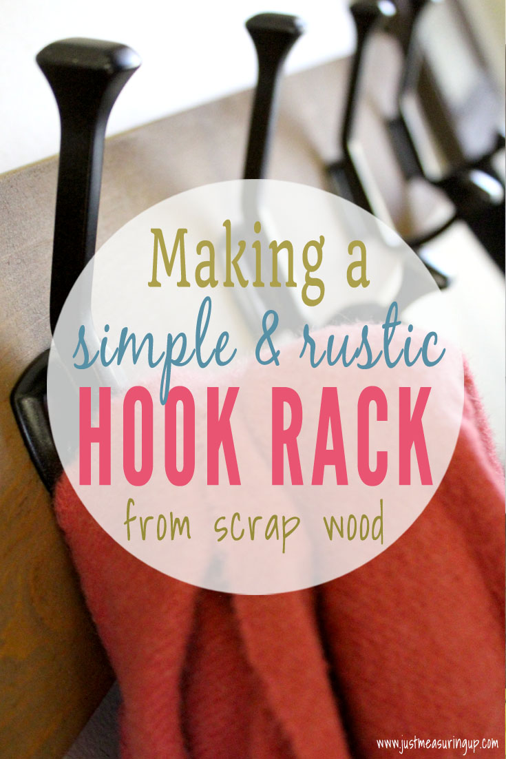 How to Make a Wall-Mounted Hook Rack from Scrap Wood