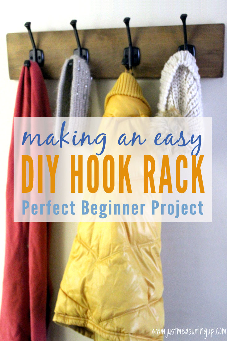 How to Build a Wall-Mounted Hook Rack | Easy DIY Projects