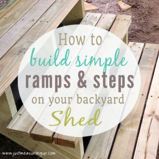 Learn how to build a ramp, steps, and custom doors for your shed with this simple tutorial.