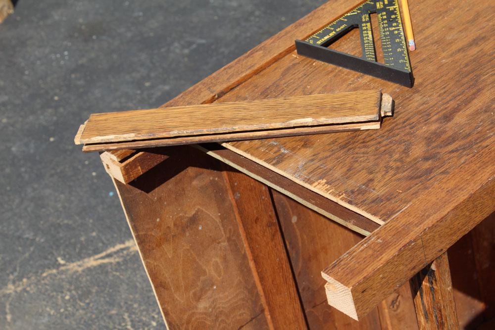 Shortening a tall dresser with a jigsaw
