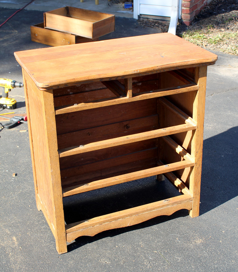 You won't believe the before picture of this shortened dresser