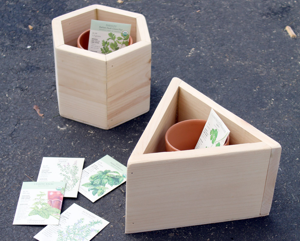 How to Build Geometric Wooden Planters that Fit Terracotta Planters