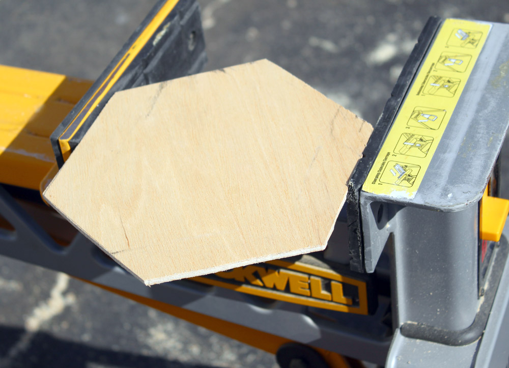 Making a hexagon DIY planter box