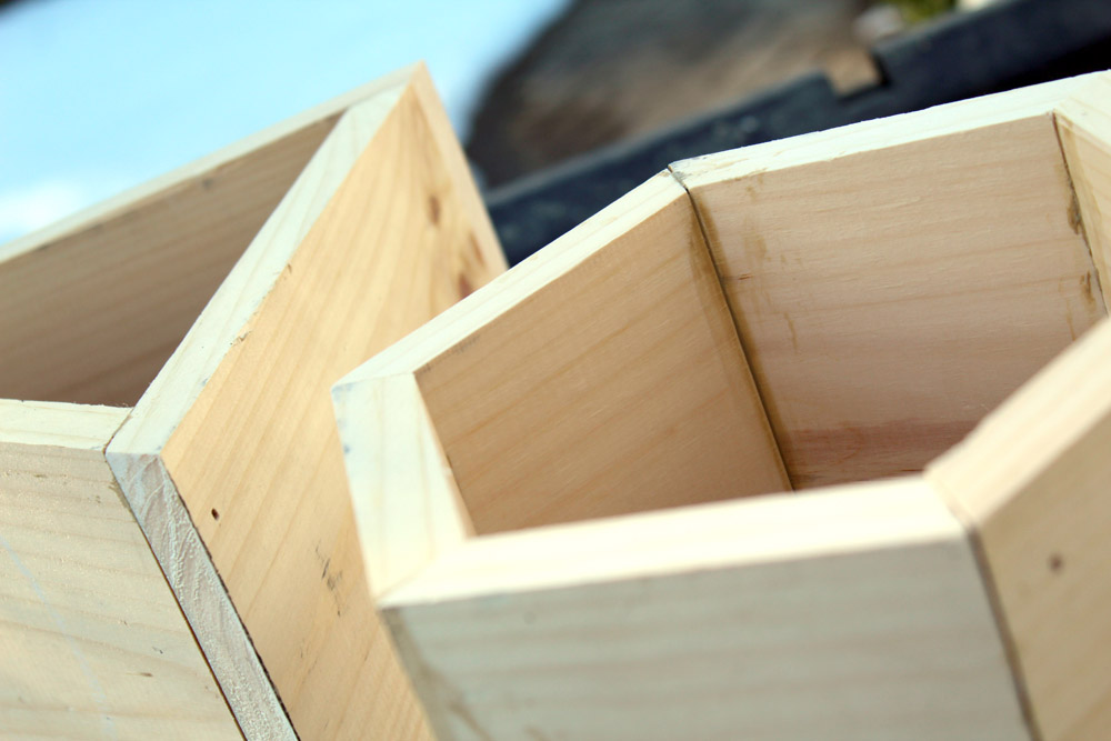 How to Build DIY Planter Boxes in the Shape of a Hexagon