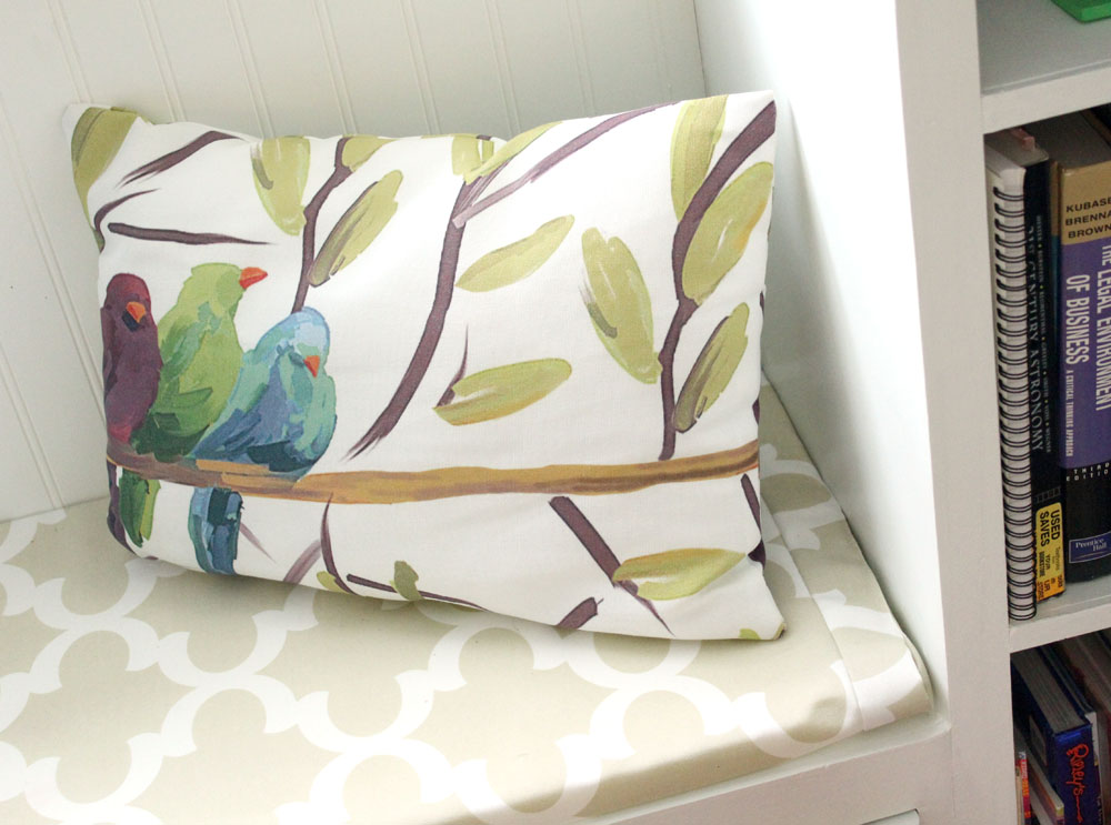 Add Throw Pillows for an Easy Way to Add Color to Neutral Rooms