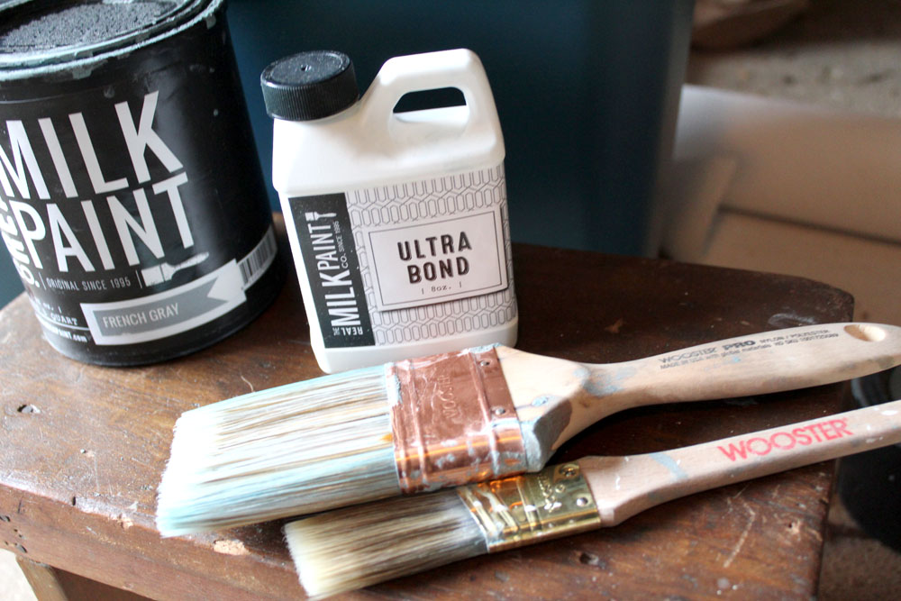 Using ultra bond as a bonding agent when painting with milk paint