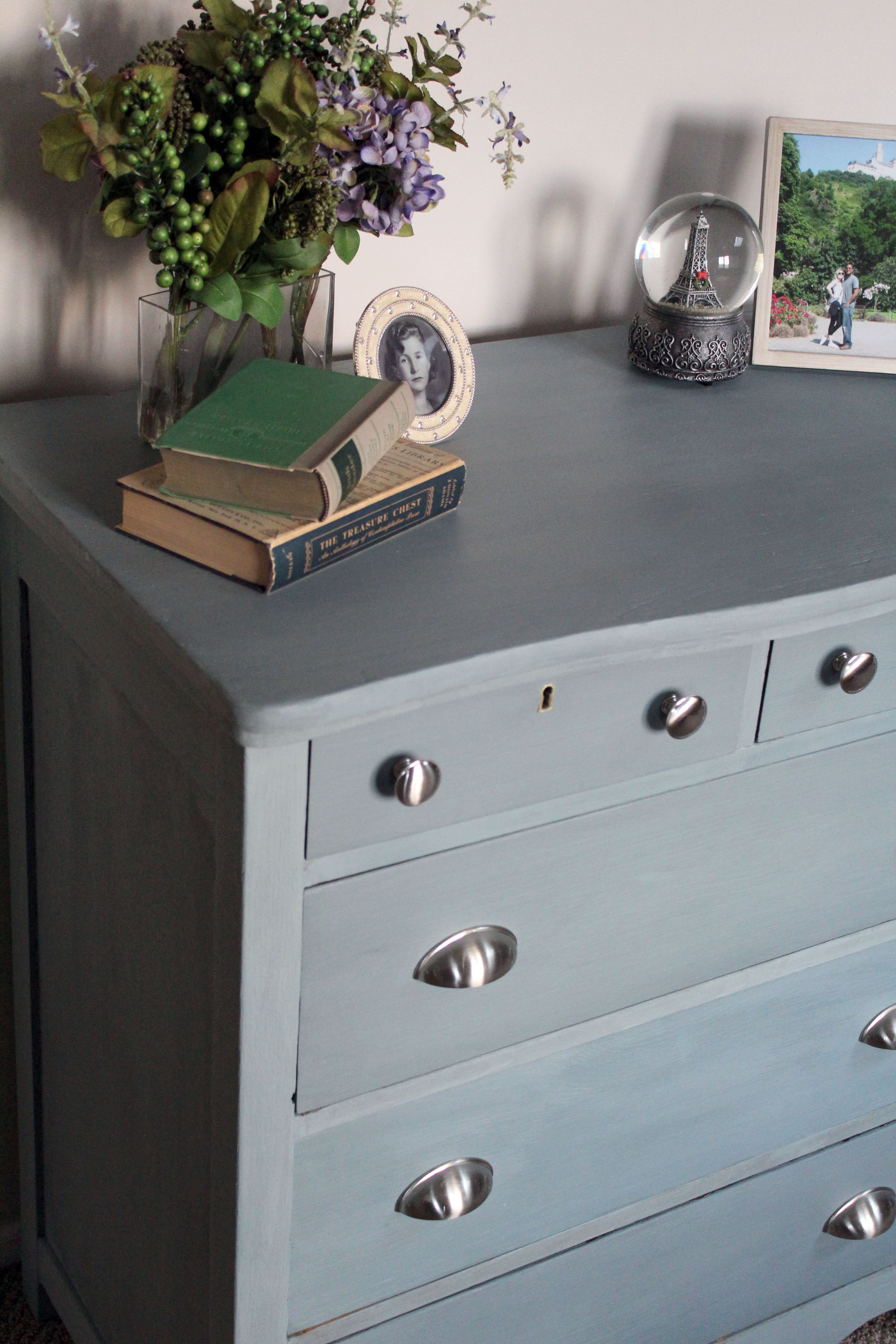 An amazing milk paint furniture makeover in French gray