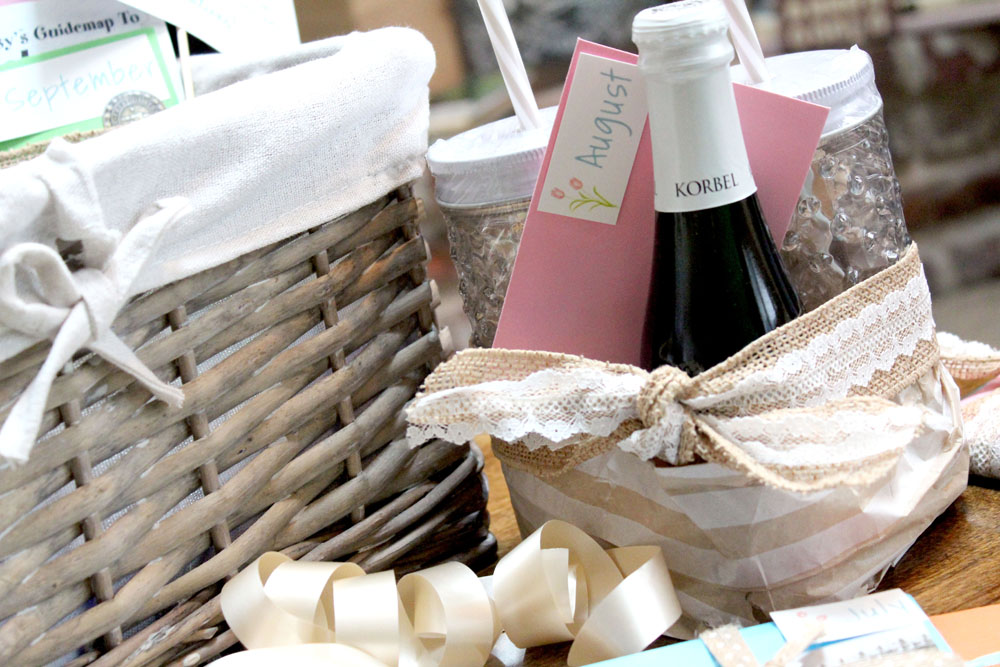 Year of Dates Gift Basket Wedding Gift