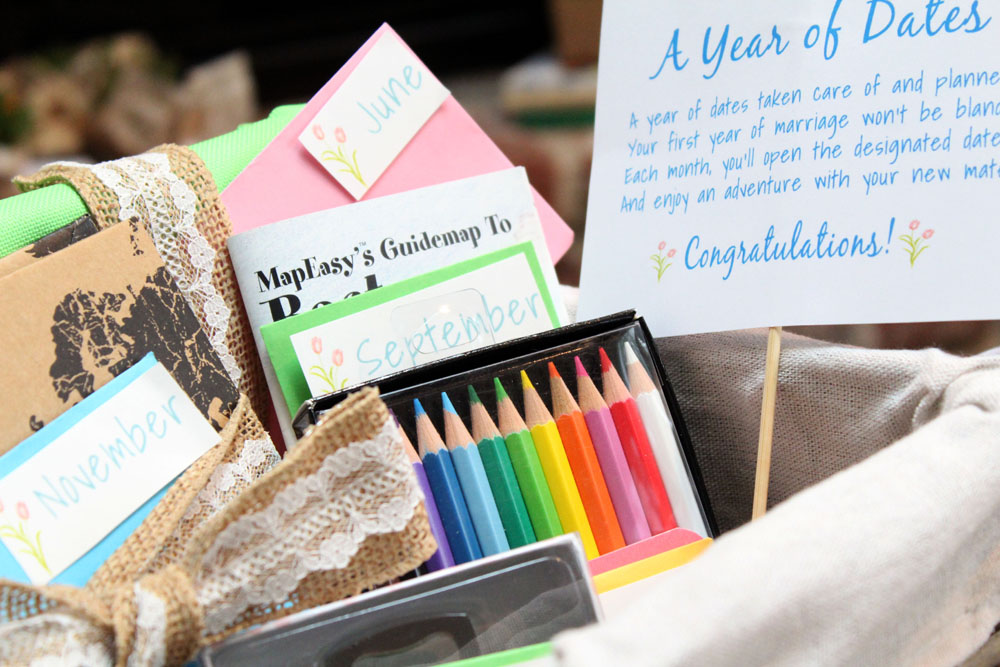 12 Months of Planned and Prepaid Dates Gift Basket