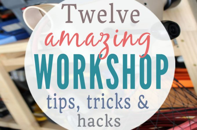 Lots of great DIY organization tips for garages and workshops