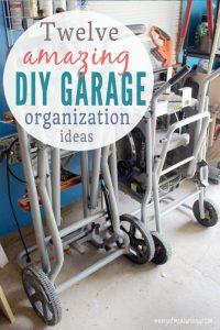 DIY garage organization tips and tricks - lots of storage ideas!