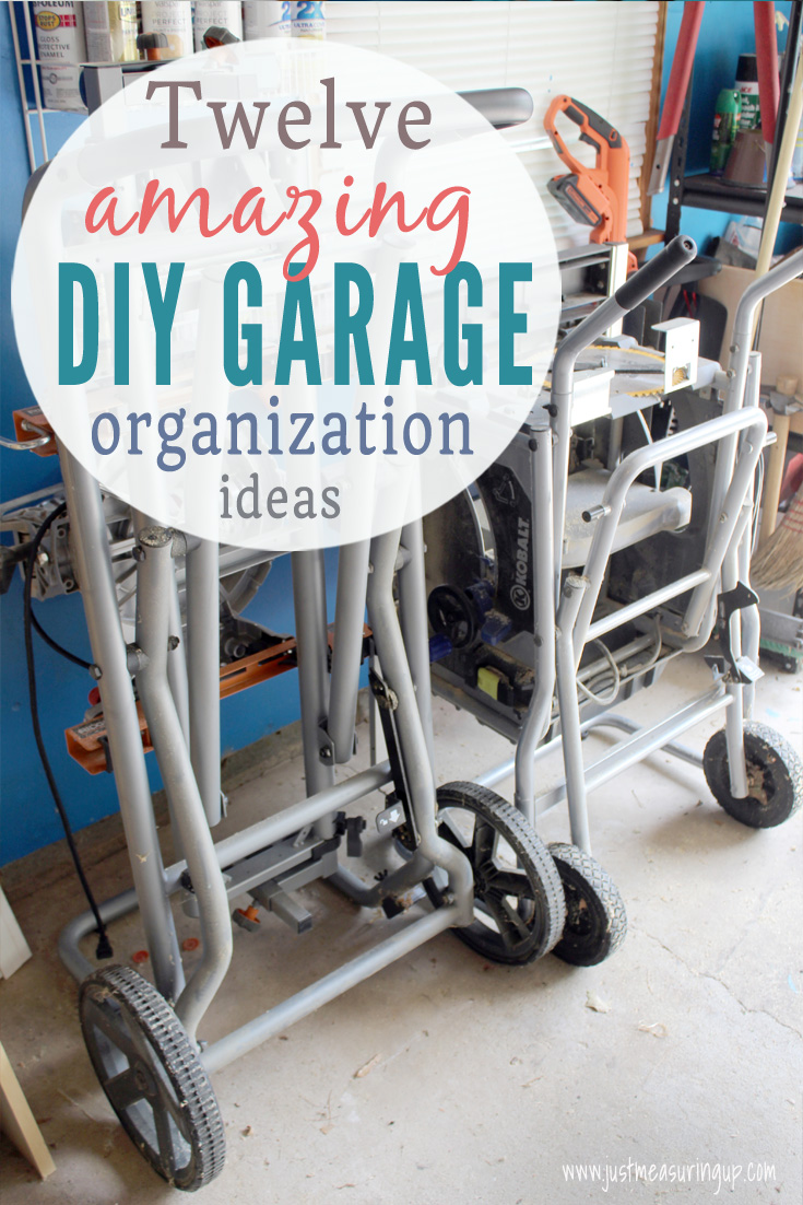 DIY garage storage tips and tricks - lots of organization ideas!