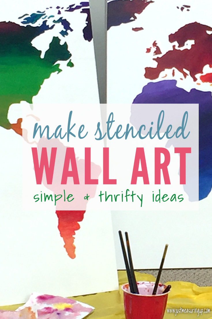 Learn how to make stenciled wall art - easy and save money doing so!