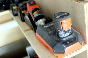 DIY Garage Organization Ideas - Battery Charging Station