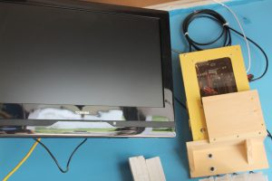 Garage computer that's great for watching how-to videos and for displaying plans while building