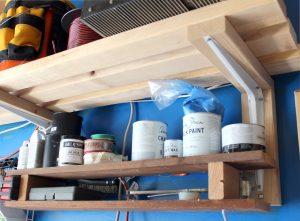 DIY garage organization tips and tricks - lots of shelves