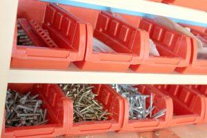 Using storage bins to help with garage organization