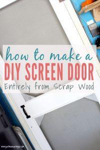 How to build a wooden screen door tutorial