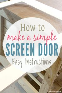 Easy instructions for making a DIY screen door