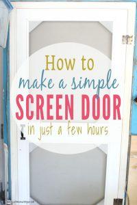 Build a wooden DIY screen door