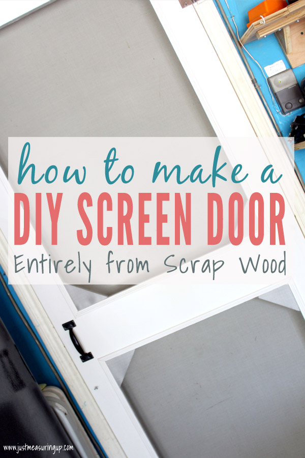 How to build a diy wooden screen door tutorial