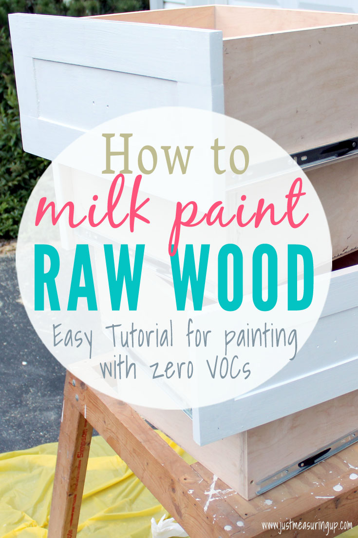 Using milk paint on raw wood