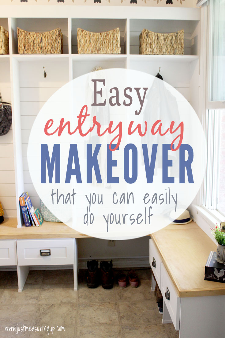 Entryway and mudroom makeover