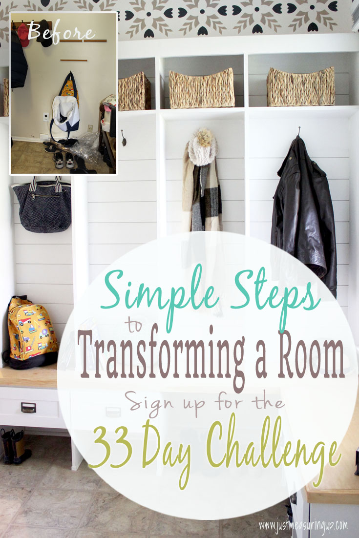 Before and after mudroom makeover