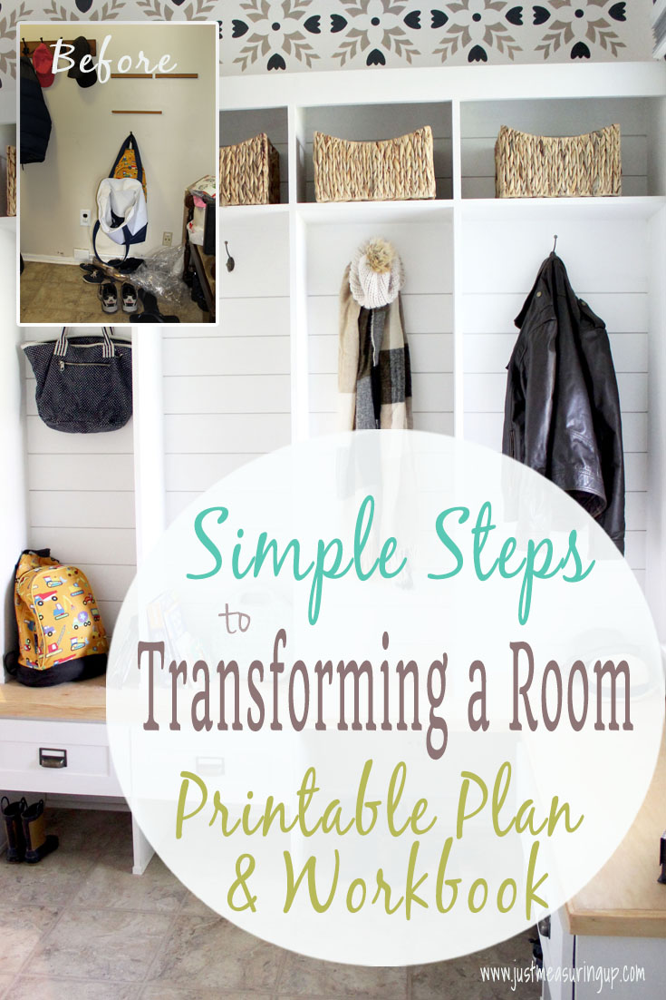 Simple printable plan and workbook for instantly making over a room