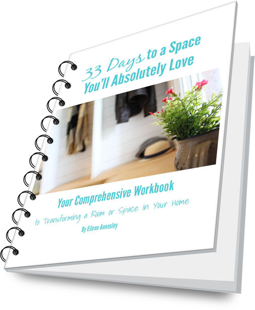 Makeover a space in your home with this easy workbook guide.