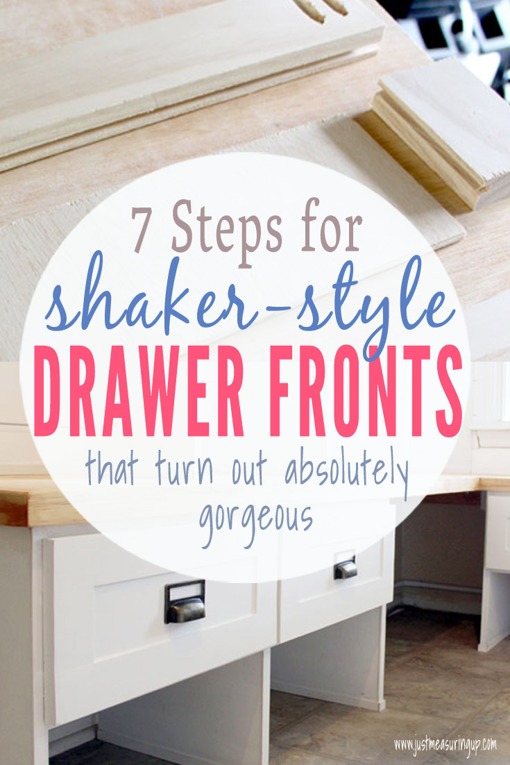 Building your own shaker-style drawer fronts