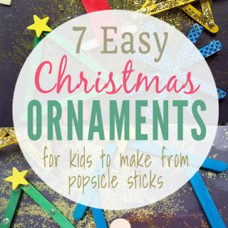 Easy & Gorgeous Wooden Christmas Ornaments for Kids to Make