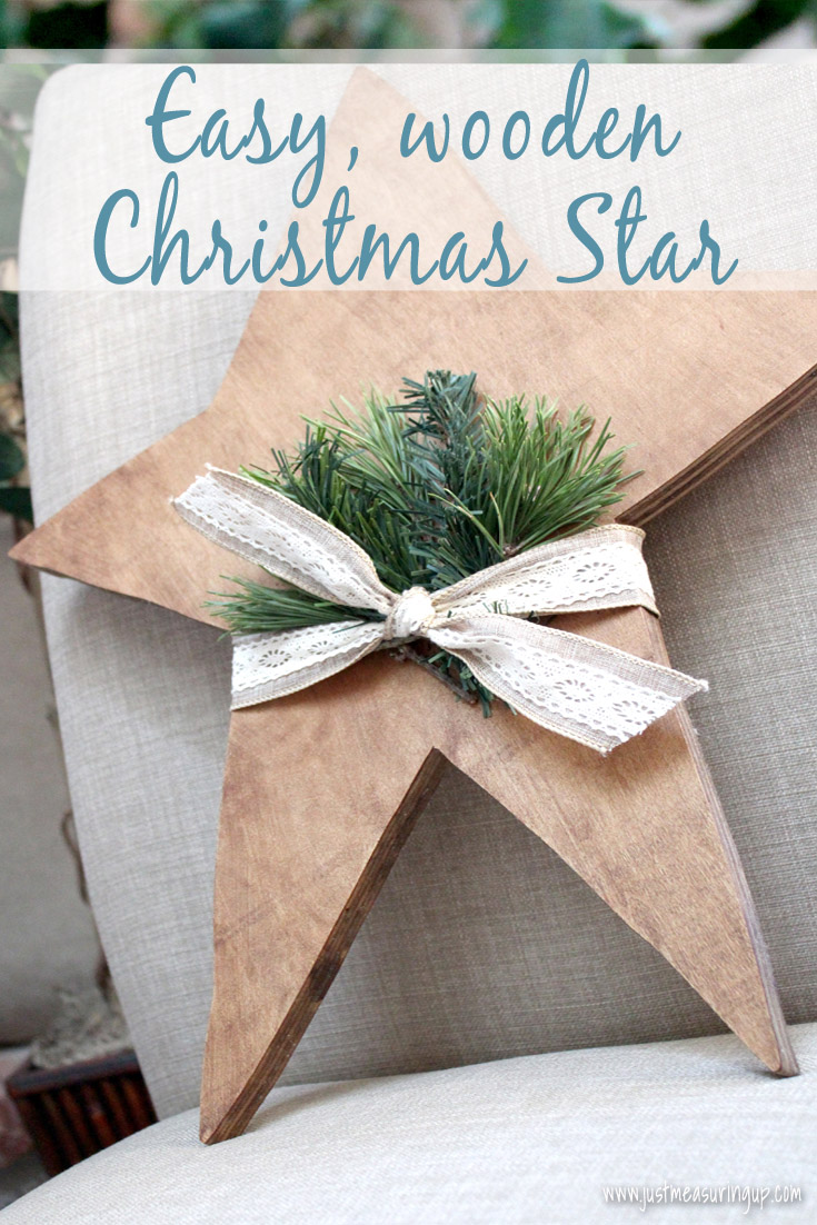 Easy wooden Christmas star tutorial