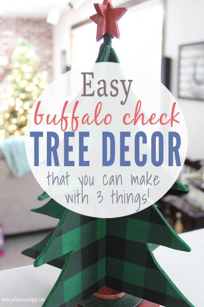 Green buffalo check Christmas tree